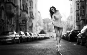 street, ballerina, dancers, girl