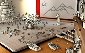 цифровое искусство, война, бумага