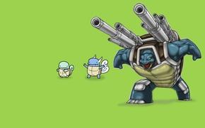 Wartortle, Squirtle, Pokemon, Blastoise