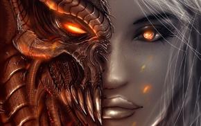 Diablo, devils, red eyes
