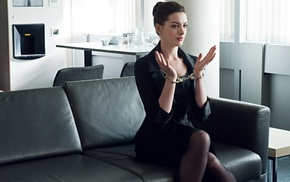 The Dark Knight Rises, actress, girl, Anne Hathaway, handcuffs
