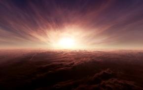 природа, облака