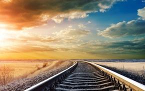 railway, nature