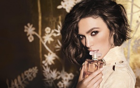 brunette, brown eyes, Keira Knightley, Chanel