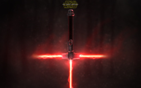 red, Star Wars, lightsaber, Star Wars Episode VII, The Force Awakens, Sith