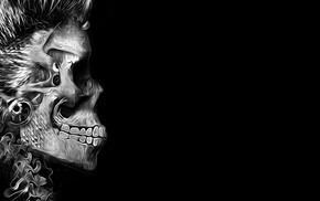 black holes, skull