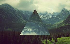 triangle, landscape, polyscape