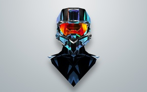 Master Chief, abstract, Justin Maller, Halo
