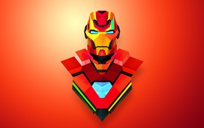 abstract, Iron Man, red, Justin Maller