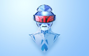 Daft Punk, Justin Maller, abstract