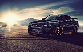 Nissan, car, Skyline R34