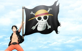 Pirate Flag, Monkey D. Luffy, Straw Hat Pirates, One Piece, Jolly Roger