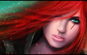 рендер, рыжие, девушка, Лига Легенд, фантастическое исскуство