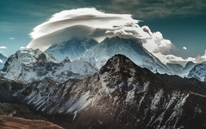 nature, mountain, clouds