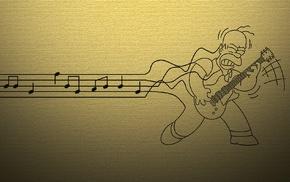 Homer Simpson, guitar, The Simpsons, music