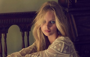 blonde, blue eyes, Marloes Horst, girl