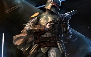 bounty hunter, fan art, Boba Fett, Star Wars