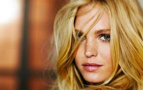зеленые глаза, модель, девушка, лицо, блондинка
