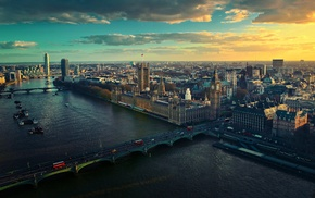 Westminster, London, cityscape, building, England, River Thames