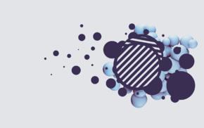 abstract, 3D, digital art, artwork, white background, sphere