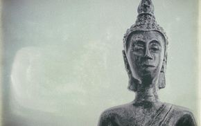 statue, Buddha, simple background