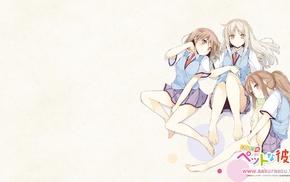 Sakurasou no Pet na Kanojo, barefoot, Aoyama Nanami, anime, schoolgirls, Shiina Mashiro