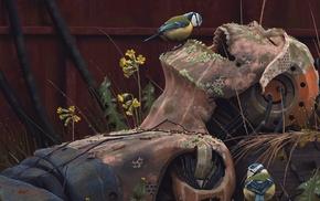 artwork, Simon Stlenhag, robot, rust