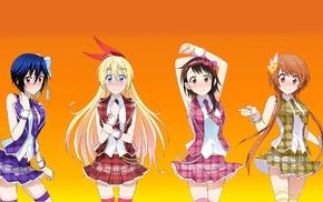 Onodera Kosaki, anime girls, Nisekoi, Kirisaki Chitoge, Tachibana Marika, skirt