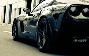 Corvette, monochrome, car