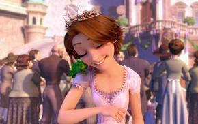 Rapunzel, Disney, princesses, happy, love, Pascal character