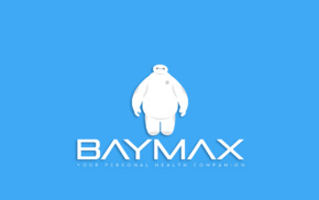Baymax, simple, Disney, Big Hero 6