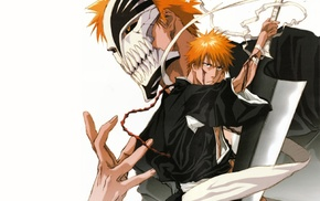 Hollow, anime boys, Kurosaki Ichigo, Bleach