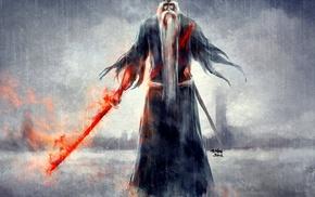 Genrysai Shigekuni Yamamoto, NanFe, rain, sword, Bleach