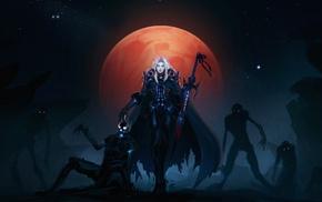 moon, undead, Blood Elf, World of Warcraft