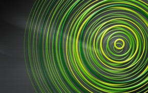 artwork, green, circle, geometry, simple background, Xbox 360