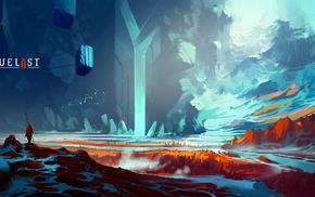 Digital 2D, duelist, concept art, digital art, Anton Fadeev, artwork
