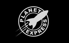 Futurama, planet express, minimalism, logo