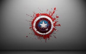 shields, Captain America, paint splatter, simple background