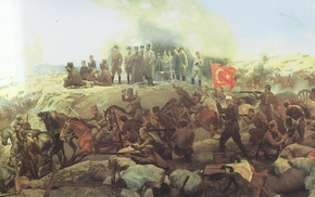 painting, artwork, Turkey, war, battle, history