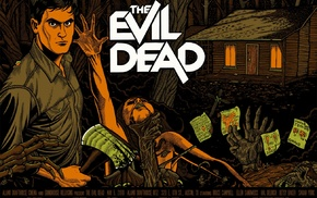 artwork, Evil Dead, movies, movie poster