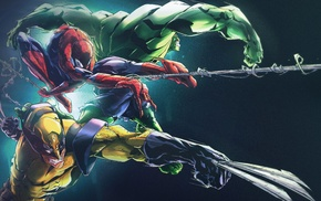 Hulk, Spider, Man, Marvel Comics, Wolverine