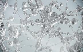 liquid, water, abstract, glass, water drops, digital art