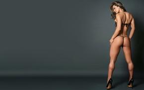 thong, blonde, high heels, Esperanza Gomez, Latinas, legs