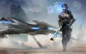 futuristic, spaceship, fantasy art