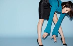 high heels, bending over, Asian, girl, turtlenecks, Masami Nagasawa