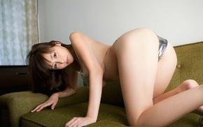 Asian, girl, bent over