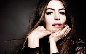 Anne Hathaway, brown eyes, filter, girl, brunette, actress