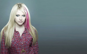 blonde, Avril Lavigne, blue eyes