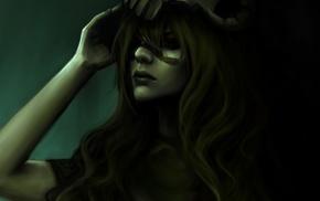 green hair, artwork, Nelliel Tu Odelschwanck, Bleach, Espada