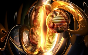 sphere, digital art, square, render, abstract, 3D